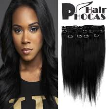 Black Hair Styles Extensions by Amazon Com Hairphocas 14 Inch 1 Clip In Remy Human Hair