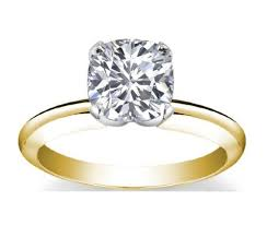 gold cushion cut engagement rings 18k yellow gold solitaire diamond engagement ring cushion cut k