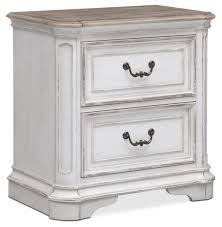 Vintage Nightstands Bedroom Nightstand Small Nightstand Table Distressed White