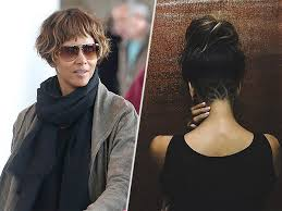 hã lle design halle berry gets a lotus flower undercut see the photos here
