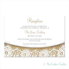 wedding reception invitation templates burlap and lace rustic wedding reception invitation template