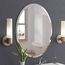 bathroom frameless mirrors frameless mirrors you ll love wayfair