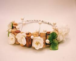 wedding flowers cork hair bachelorette flower cork crown tiara 2483686 weddbook