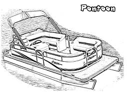 pontoon boat drawing pages for preschoolers coloring point