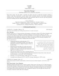 It Manager Sample Resume Operations Manager Resume Template Operations Manager Resume