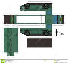 paper model of a military tank truck stock vector image 62016394
