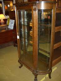 curved glass china cabinet antique curved glass china cabinet value antique furniture
