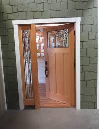 exterior design remarkable single large wooden half glass lite