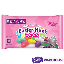 brachs bunny basket eggs brach s wrapped marshmallow easter eggs candywarehouse