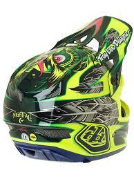 motocross helmet designs troy lee designs nightfall green d3 carbon mips mtb full face