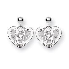minnie mouse earrings mouse heart earrings official licensed disney jewelry