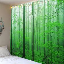 home decor forest tree wall hanging tapestry green w inch l inch