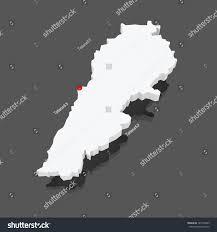 Map Of Lebanon Map Lebanon 3d Stock Illustration 181594469 Shutterstock