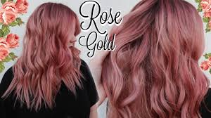 my rose gold hair color tutorial best formula ever youtube