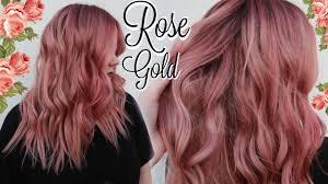 rose gold hair color my rose gold hair color tutorial best formula ever youtube