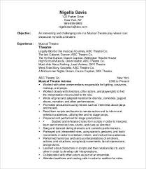 Theatrical Resume Music Resume Template Sweet Ideas Resume Examples 2014 15