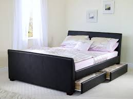 Black And White Wall Decor For Bedroom Bedroom Captivating Bed Frame With Storage Two Drawers With Black