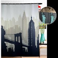 badezimmer vorhang new york city scape stoff duschvorhang wasserdicht bad vorhang mit