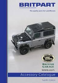 britpart 12 2016 katalog akcesoriów land rover range rover lrpl