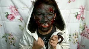 halloween makeup the walking dead inspired burnt zombie makeup