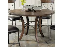 hillsdale cameron dining table hillsdale cameron round wood dining table with metal acent base