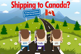 get on course shipping to canada fedex vs ups vs usps shipping