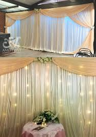 wedding backdrop fairy lights ivory apricot backdrop artificial roses fairy lights poa