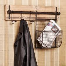 interior diy wood and metal wall mounted coat rack with hanging