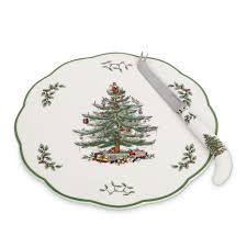 spode tree appetizer plate with cheese knife spode usa
