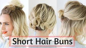 side buns for shoulder length fine hair quick bun hairstyles for short medium hair hair tutorial