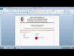 membuat kop surat organisasi cara membuat kop surat resmi youtube