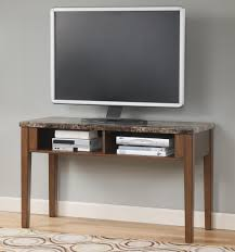 Tv Console Designs For Bedroom Sofa Table Tv Console With Faux Marble Top By Signature Design