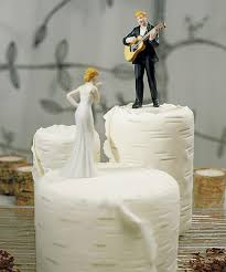 guitar cake topper guitar wedding cake topper