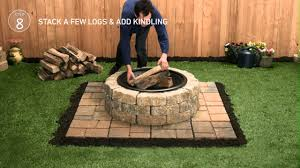 How To Build A Backyard Fire Pit by Lowe U0027s Firepit Tap Thru How To Youtube