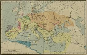 Historical Maps Of Europe map of attila u0027s empire 450 ad