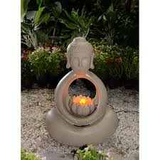 water fountain with lights lotus buddha water fountain with led light