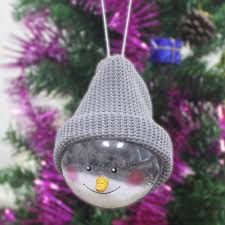 aliexpress com buy cute christmas snowman hanging ball doll home
