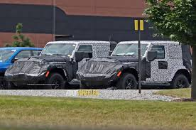 jeep camo spied 2018 jeep wrangler jl two door with limited camo photo