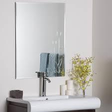 classy 25 frameless mirrors for bathrooms inspiration design of