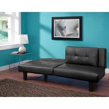 mainstays connectrix faux leather futon multiple colors walmart com