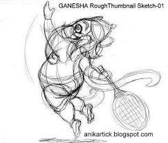 pencil sketches of god ganesha fast thumbnail sketches will help