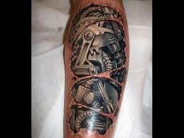 tattoo 3d mechanical skin rip mechanical tattoo youtube