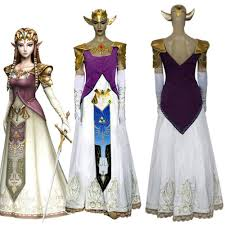 Zelda Halloween Costumes Legend Zelda Princess Zelda Cosplay Costume Dress Custom
