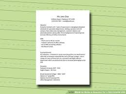education for a resume how to write a resume for a secretarial job 11 steps