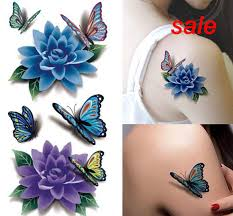 cheap butterfly flowers tattoo designs free shipping butterfly