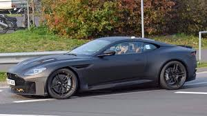 matte black aston martin 2019 aston martin vanquish spied looking mean at nürburgring