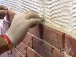 Faux Brick Interior Wall Covering Diy Brick Wall Diy Network Youtube