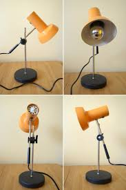 Modern Table Lamps Vintage Orange Desk Lamp Articulated Table Lamp Mid Century