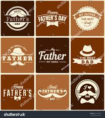 brown s day happy fathers day label designs collection stock vector 271001642