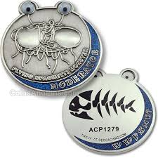 flying spaghetti coin antique silver